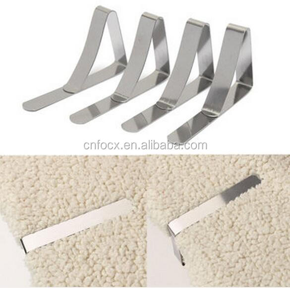 4pcs Stainless Steel Table Cloth Clips / Table Cover Holder / Party Picnic Clamp