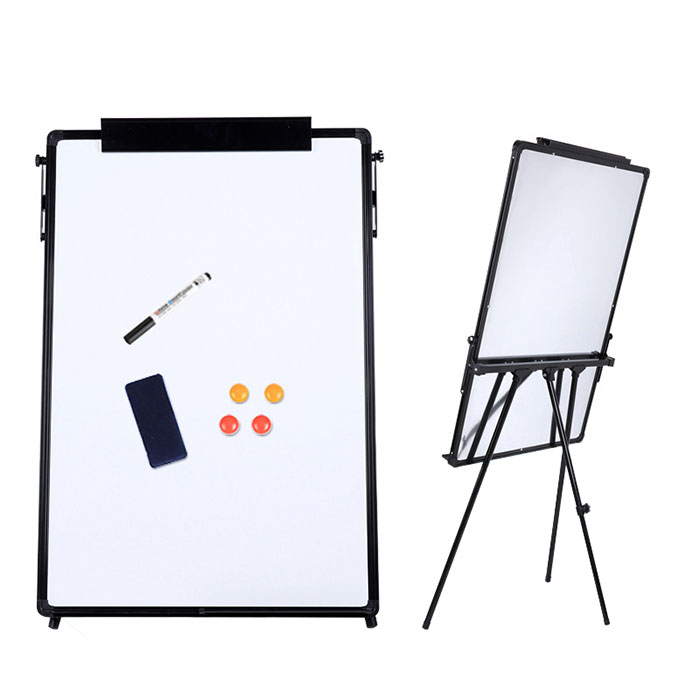 Adjustable one side erasable magnetic writing drawing white board