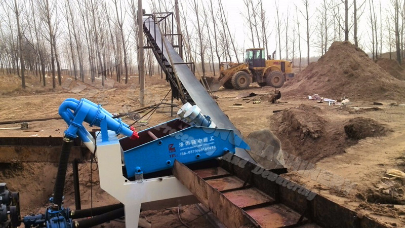 Double spray LZ550 sand extraction machine