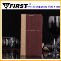New Wallet Leather Flip Stand Cover Wood Grain Cases For Samsung Note 3