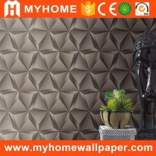 Silver Color Special Design DIY Paper Wholesale Geometrical 3D Wallpaper