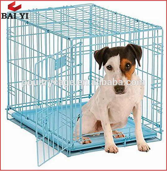 Dog Double Door Kennel Crate With Divider And ABS Tray (Free Samples)