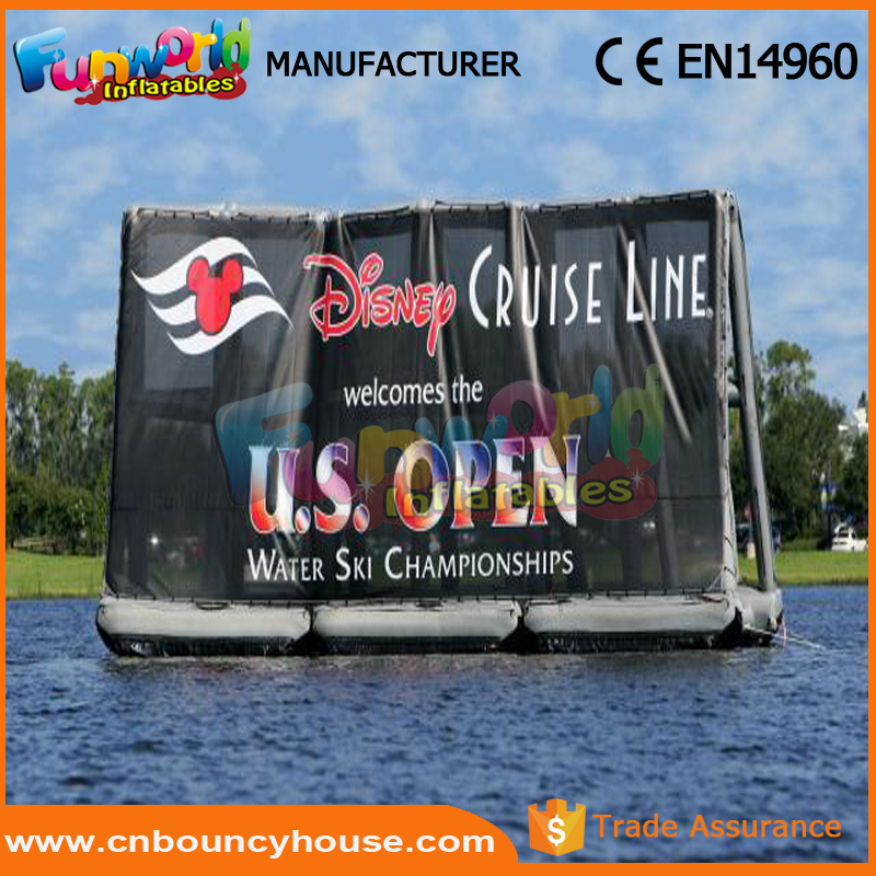 Outdoor mobile water inflatable billboard digital billboard advertising