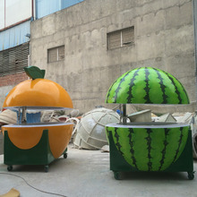 Fruit kiosk Artical watermelon & orange shape hot food vending cart/coffee cart trailer/mobile catering food van