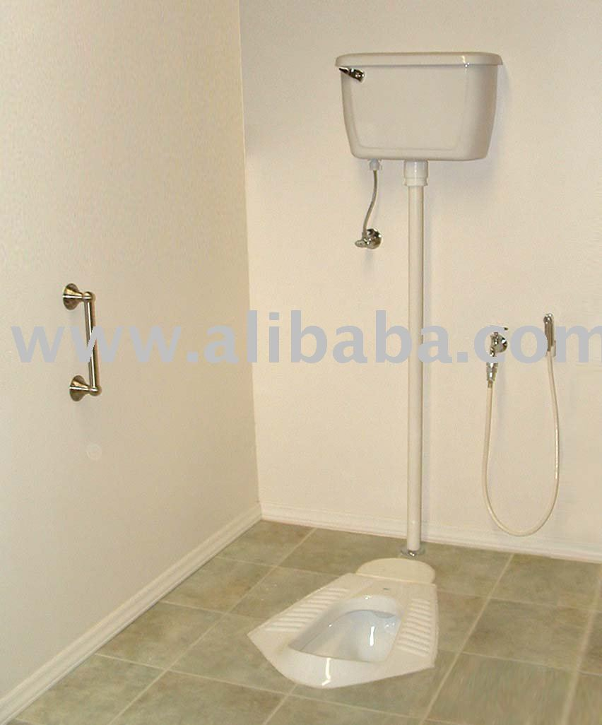 "Natura- Natural Position Toilet (squat toilet): 16"", complete"