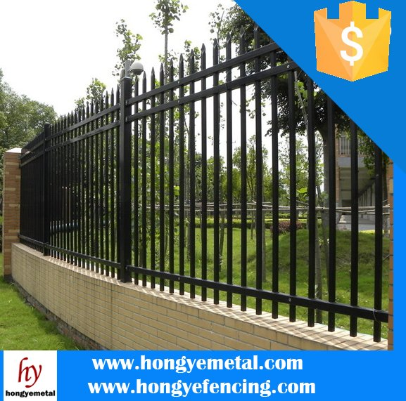 Decorative Low Price High Quality ISO9001 Wrought Iron Fence/Metal Fence