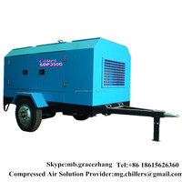 High Pressure Portable Diesel Driven Rotary Screw Air Compressor