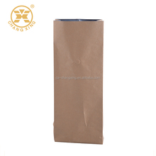 Square box bottom color zipper lock Alu coffee bag/plastic coffee bag/paper coffee bag