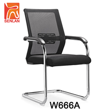 W666A Plastic fixed back black mesh executive office chair ergonomic visitor chair