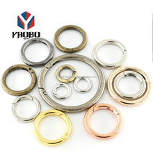 Fashion High Quality Metal Various Color Round Ring For Bag