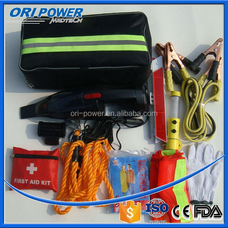 OP CE FDA ISO approved fluorescence wholesale travel car emergency repair tool kit
