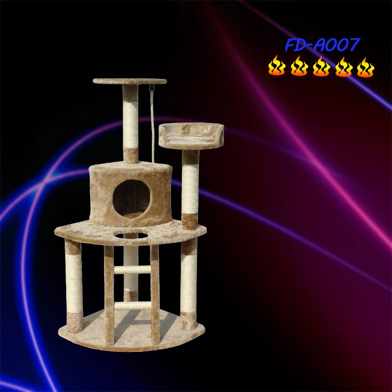 Cat Tree With Resting Nest Area Scratch Post Furniture