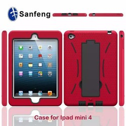 plastic smart cover case for apple ipad mini 4 cell phone shell