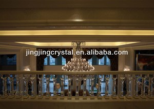 Luxury Grandeur New Crystal Hallway Balustrades from China factory with real decoration sample show