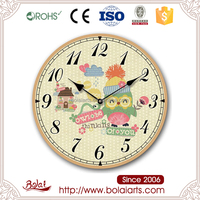 Multifunction home decoration cute owl art craft models clock