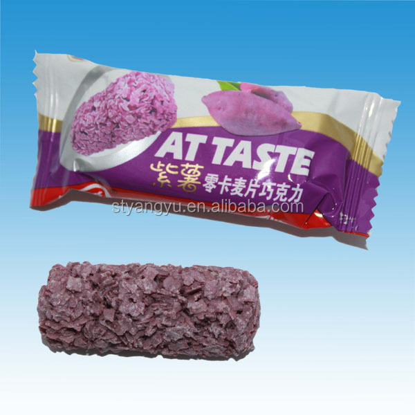 Purple Sweet Potato Oatmeal Chocolate Crisp Candy