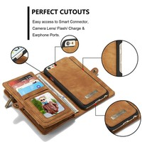 Universal smart phone wallet style leather case for iphone 6