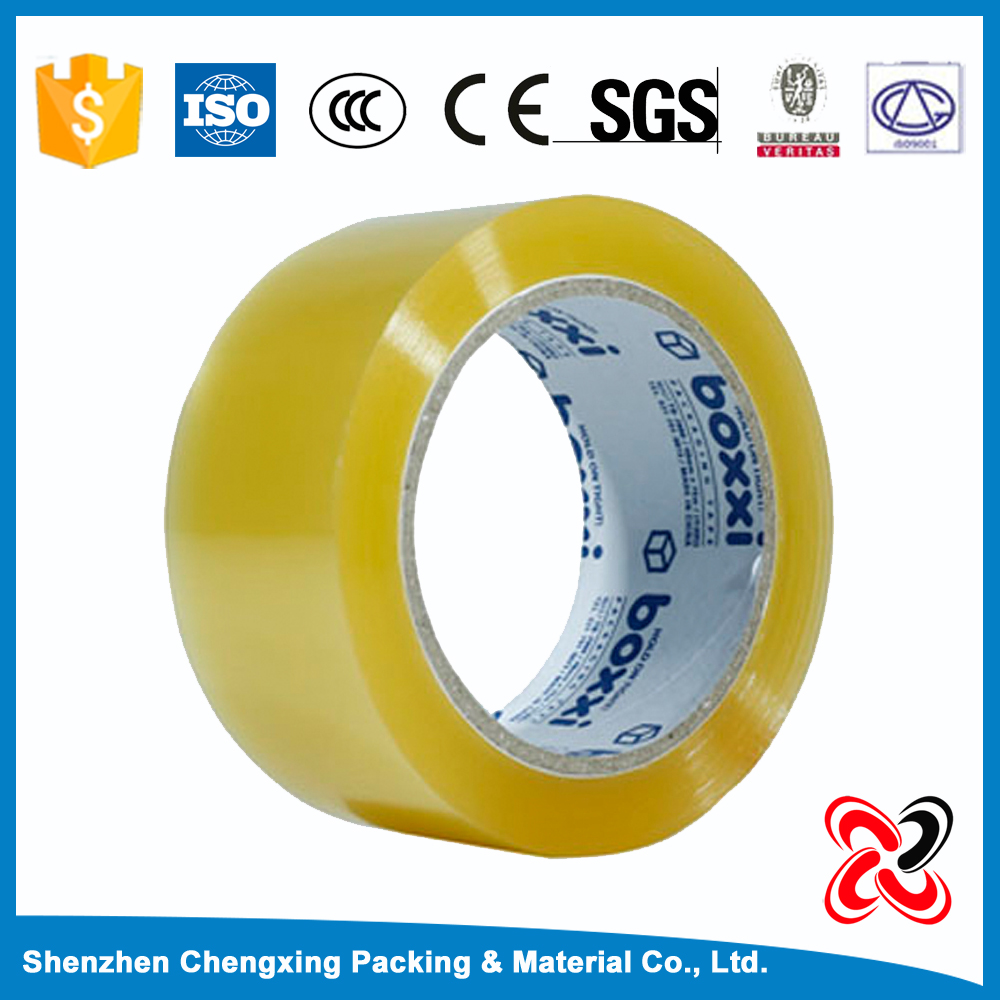 Transparent&yellow 50 micron Opp Packing Tape(ISO9001 ROHS CTI B.V.)