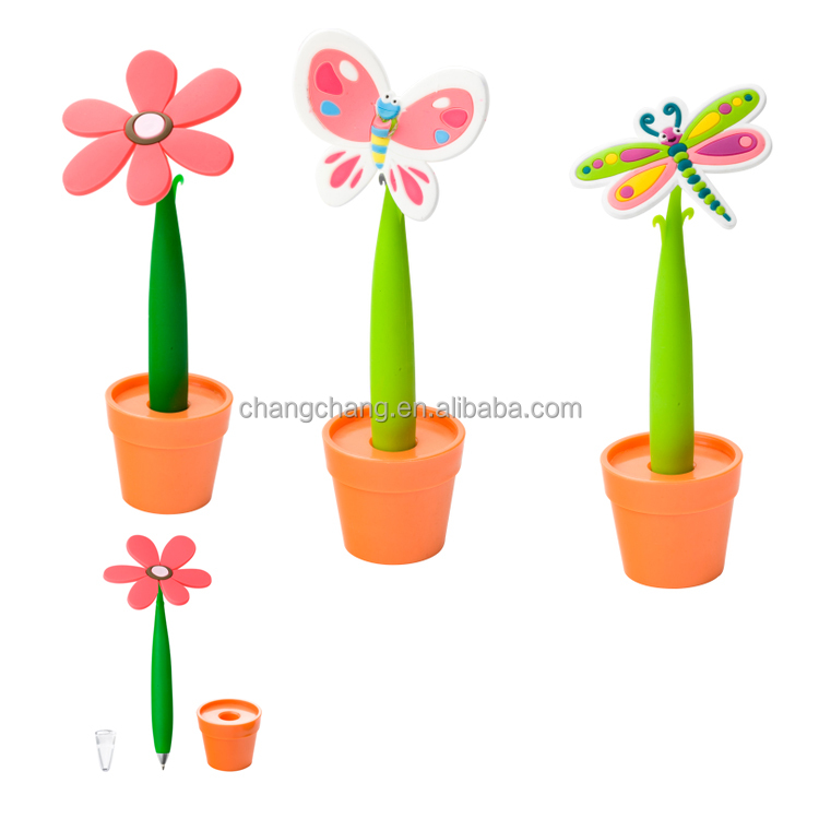 Lovely Flowers Fresh Flower Japan Gift pen Prize for Students Plastic Novelty Pen