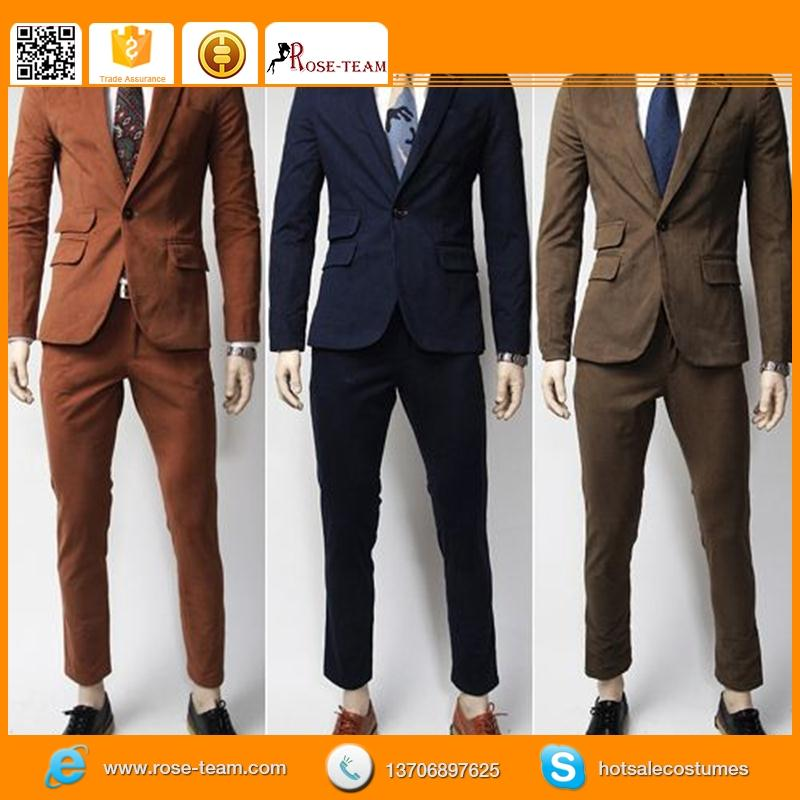 man suit in china, custom logo men suit model, gent pant suit