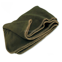 Stamped Olive Green Heavy Weight Wool Military Blanket