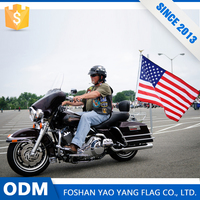 Alibaba China Market Custom Polyester Fabric Motorcycle Flags Wholesale