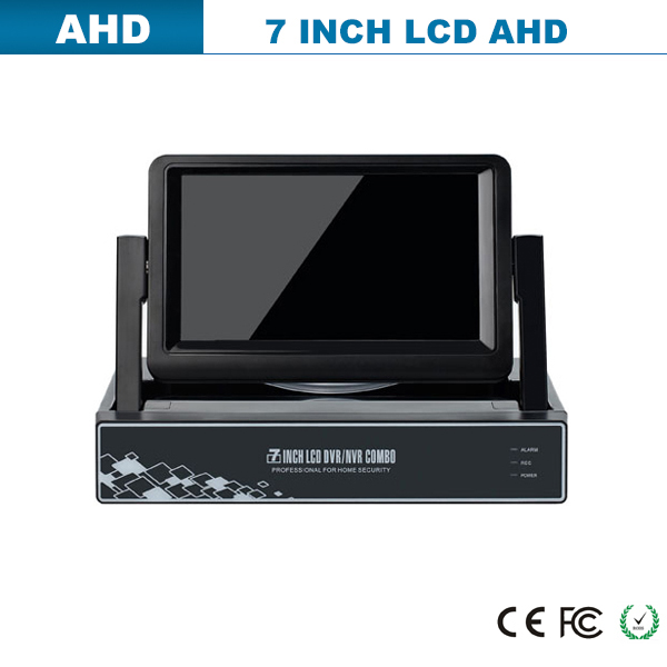 7inch LCD DVR support 1ch SD/TF card real time recording portable mini hd cctv dvr