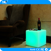 Led lighting furniture cube seat illuminated lighting cube chair for bar/night club/party