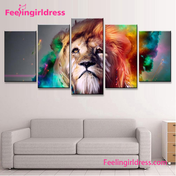 New Product Custom Lion Pattern Graceful Art Oil Wall Modern Art Paintings