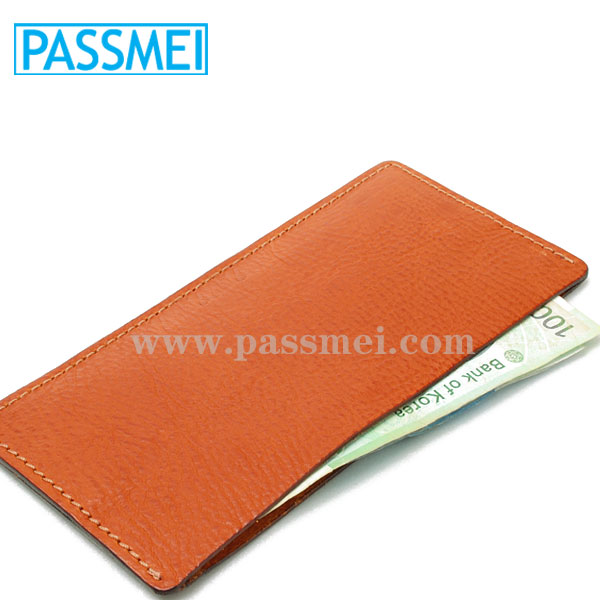 Minimalist Ultra Slim Vegetable Tanned Leather Slip Case Unisex Credit Card Wallet