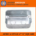 Durable metal African style panel mounted enclosure for electronic