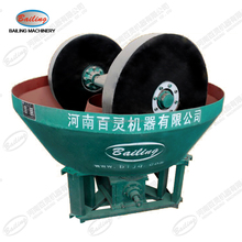 Bailing double wheel wet grinding pan mill used in Sudan, Mauritania, Mali, Egypt
