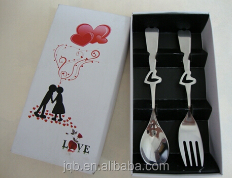 Elegant design stainless steel childrens cutlery gift set with paper box