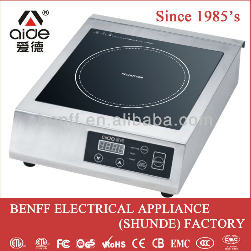 high efficiency 3500W commercial portable induction cooktop