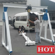 portable marine lifting folding deck gantry cranes for sale, small boat lifting gantry crane for sale