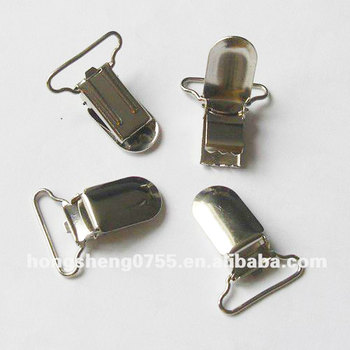 Factory supply 19mm metal kids suspender clip without plastic insert