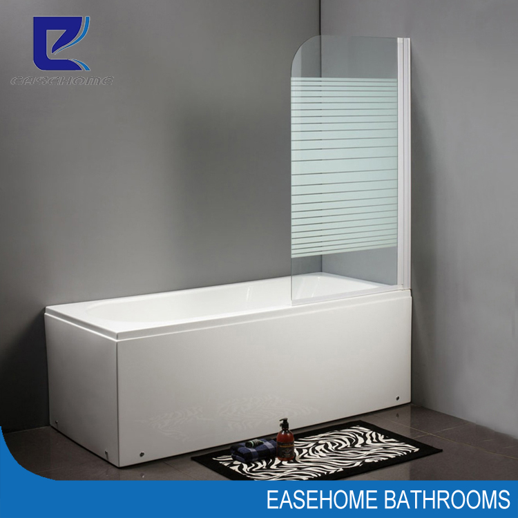folding bath tub fixed shower door screen