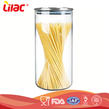 wholesale OEM&ODM food grade Airtight Kitchen food Storage pyrex cylindrical glass container