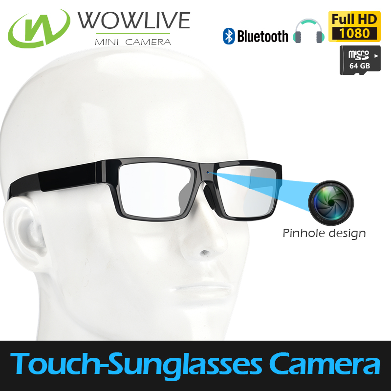Mini one-touch technology eye glasses pinhole full hd 1080p spy camera with 16GB micro sd card