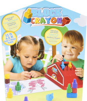 House Shaped Lively Box 3D Crayon Gift Set for Drawing /Painting