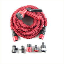 Top quality double Latex 50FT Expandable Hose for Garden retractable water hose pipe Christmas red