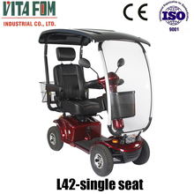 VITAFOM- 4 Wheel Electric Mobility Scooter with Hard Top Canopy
