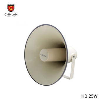 HIFI Ultra clear sound quality horn loudspeakers 25w for outdoor pa system used