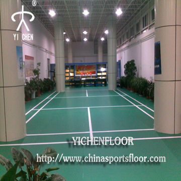 Badminton court floor coating/indoor vinyl pvc sports flooring