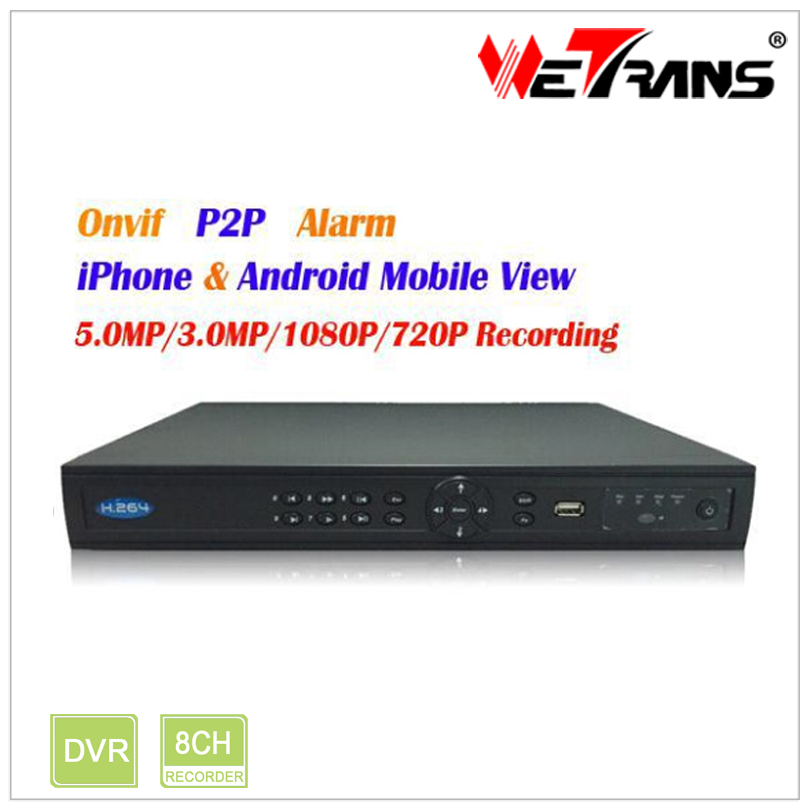 Wetrans TN-808P8 HDMI 1080P 8 Channel POE Onvif NVR With Cloud
