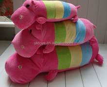 Cute hippo children toy animal shape plush pillow