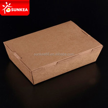Disposable stackable Chinese take away paper boxes for food