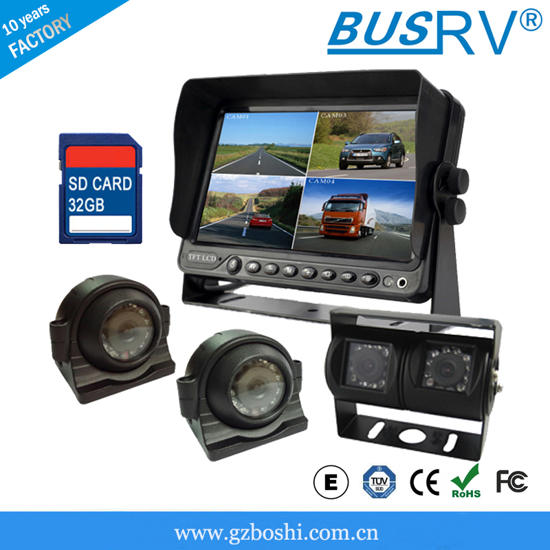 7 inch Quad Display Car TV Monitor With USB Slot!