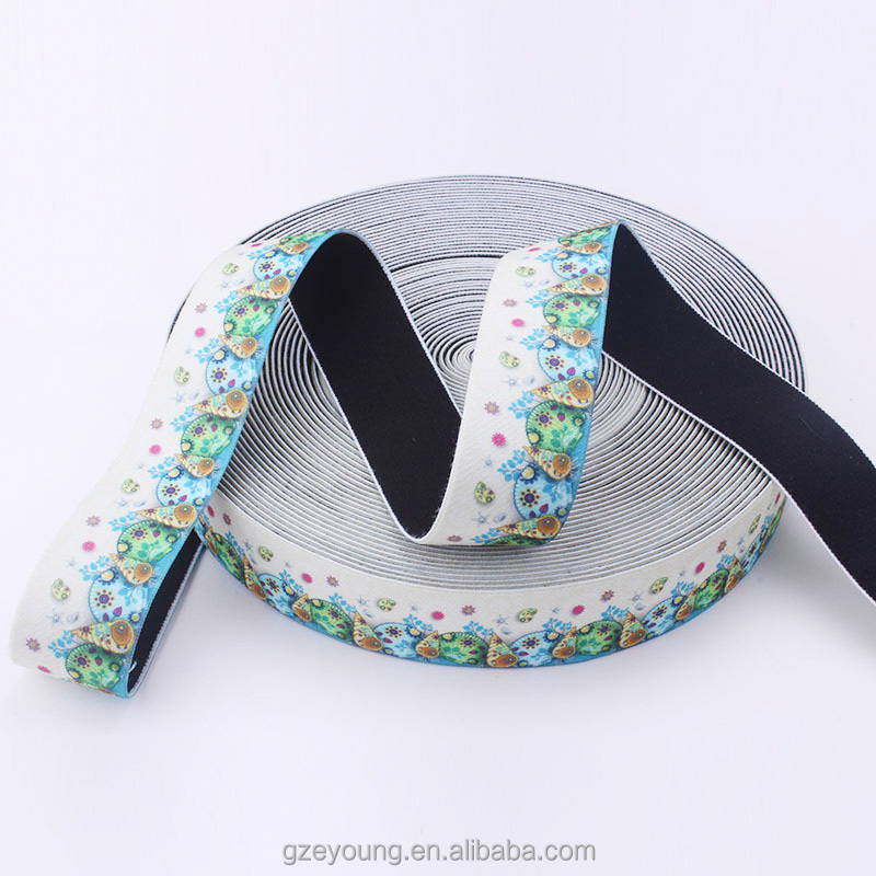 polyester soft material jacquard custom elastic waistband for underwear