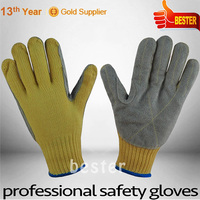 Newest High reflective long cuff shoulder length leather gloves